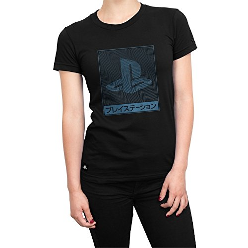 Camiseta Playstation Feminina Waves - Preto - Gg