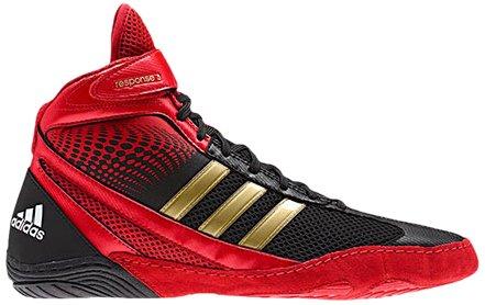 Adidas Response 3.1 Lucha de lucha del zapato, negro de plata / metálica / negro, 5 M US Black/Collegiate Red/White