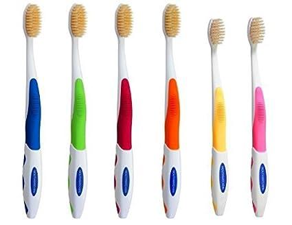 mouthwatchers antimicrobiana Floss plata de cerdas cepillo de dientes, adulto, 6 paquete familiar