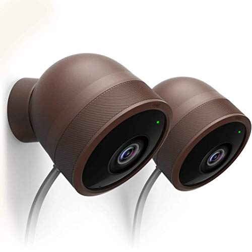 elago Nest Cam Outdoor Cover [All Weather Protective Cover][Dark Brown][Lite Package-2Pcs X 2Set] - [Protection][Blending in][Easy Installation]
