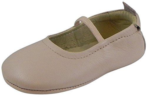 Powder Pink Kids Shoes (Old Soles Kid's 013 Pink Leather Luxury Ballet Flat 24 M EU/8 M US)