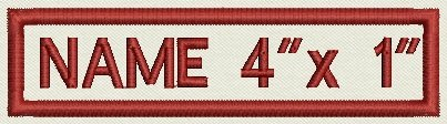 Custom Embroidered Rectangular Name Patch - One Line