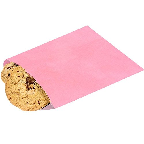 Sophie's Favors 1 Lb Petal Pink Paper Candy Bags - 6.75in. X 9.25in. - 1000 (Pink Glassine)