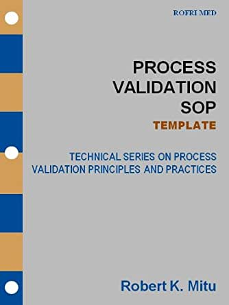 Process Validation Sop - Template (Technical Series On Process