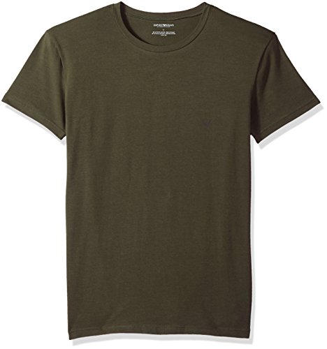 Emporio Armani Men's The Big Eagle Crew Neck T-Shirt, Military, XL (Green Mens T-shirts Armani)