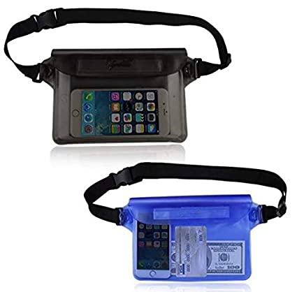 Amazon com : Xinxin Waterproof Pouch (2 Pack) with Waist