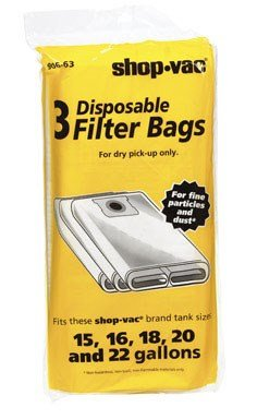 Shop-Vac 9066300, Type G,  15-22-Gallon Disposable Collection Filter Bag, 3 Count