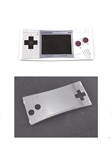 Faceplate Label Sticker + Plastic Clear Panel for Gameboy Micro GBM Faceplate Front Cover # Color 2 (Gameboy Color Faceplates)