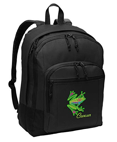 (Caribbean Tree Frog Personalized Embroidered Backpack)