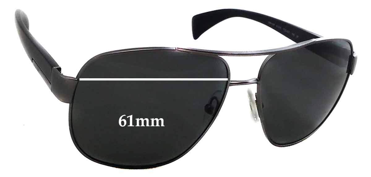 3a446cc913 Amazon.com  SFx Replacement Sunglass Lenses fits Prada SPR52P 61mm Wide (Polycarbonate  Clear Hardcoat Pair-Regular)  Clothing