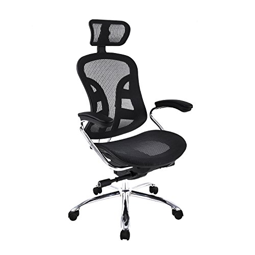 LCH Multifunctional Mesh Office Chair - Modern Adjustable Seat Slider, back tilt angle and Headrest High back Computer Desk Task Chair ()