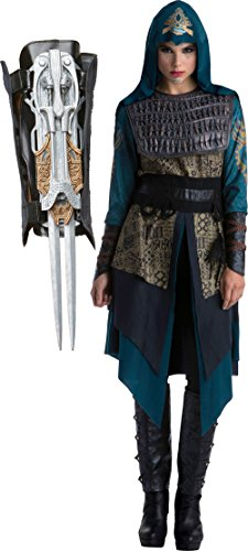 Assassin's Creed Movie Maria Deluxe Women's Costume Bundle Large 14-16 Blue -