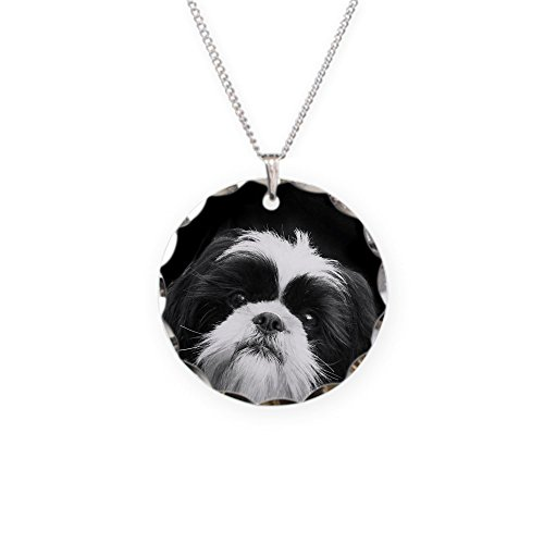 CafePress - Shih Tzu Dog - Charm Necklace with Round Pendant