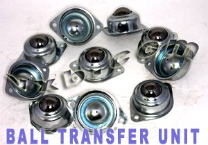 "10 pack 2 Bolt Flange Ball Transfer Unit Conveyor with 1/"" Ball"