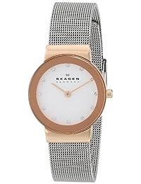 Skagen Women's 358SRSC White Label Analog Display Analog Quartz Silver Watch
