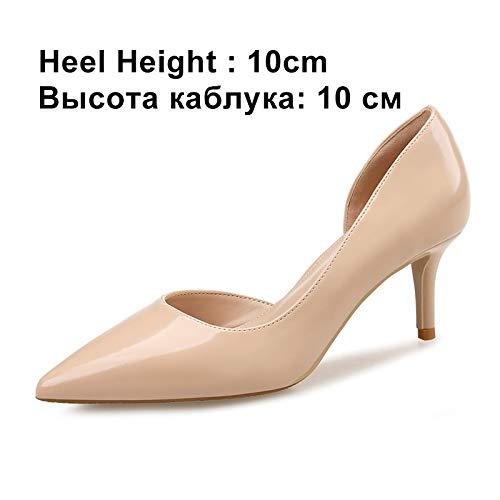 Chaussures Pointu Talons Pompes Apricot Hauts Noce Twopiece10cm Toe Femmes Automne Femme Bureau Mariage De Pingxiannv Dames Printemps qwvEI4Z