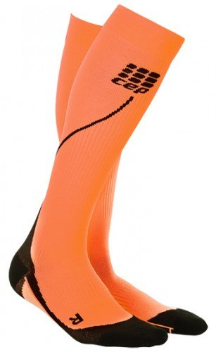 CEP Women's Progressive+ 2.0 Run Compression Socks (Flash Orange/Black - III)