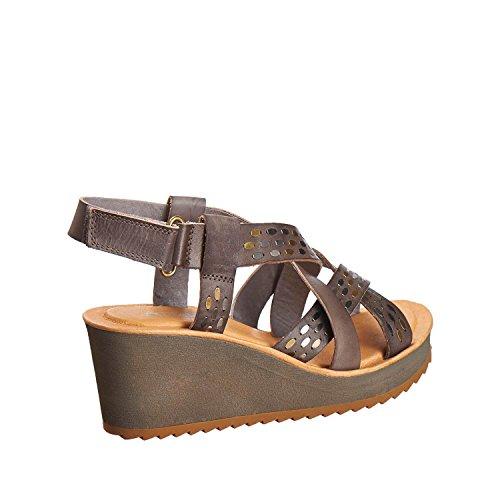Antelope Womens 516 Leather Low Dark Crisscross Sandals Grey GzckF1rJ