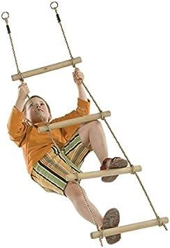 Wickey Escalera de Cuerda, Escalera de Cuerda con 4 peldaños de Madera Dura: Amazon.es: Juguetes y juegos