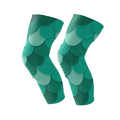 Chu warm Knee Sleeve Green Mermaid Scales Full Leg for sale  Delivered anywhere in USA