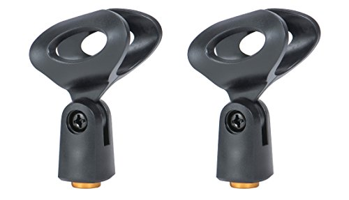 2-Pack Plastic Small Microphone Clip for all Wired Microphone Transmitters such as Sm57 Sm58 Sm86 Sm87,Fit with Dynamic Microphone