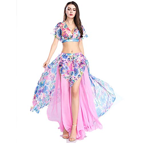 Can Can Dancers Halloween Costumes - ROYAL SMEELA Belly Dance Costume Set