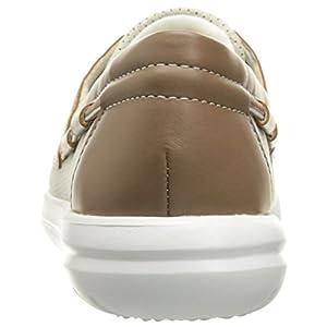 Clarks Women's Jocolin Vista Boat Shoe, Off White Perforated Textile, 8 Medium US