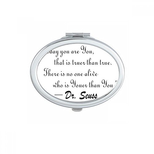 No One Is Youer Than You Dr.Seuss Oval Compact Makeup Pocket Mirror Portable Cute Small Hand Mirrors Gift (Dr Seuss Makeup)