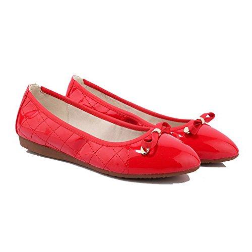 Unie Femme Talon Tire Non Rond Couleur Verni Chaussures VogueZone009 PXq6dP