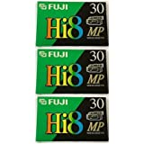 FUJI MP P6-30 DS N 8mm Videocassette Tapes, 3 Pack