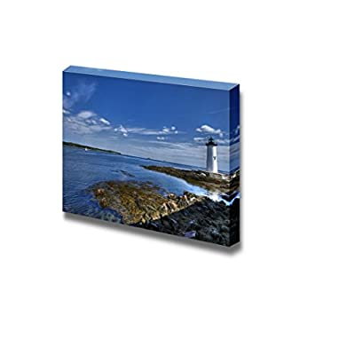 Canvas Prints Wall Art - Beautiful Scenery/Landscape Portsmouth Harbor Light | Modern Wall Decor/Home Decoration Stretched Gallery Canvas Wrap Giclee Print & Ready to Hang - 12