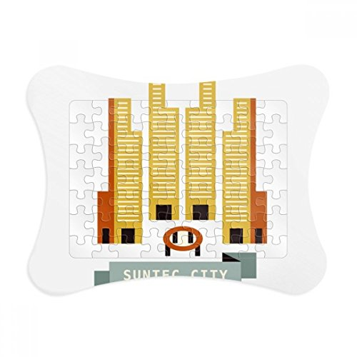 Singapore Suntec City Landmark Paper Card Puzzle Frame Jigsaw Game Home Decoration - City Singapore Suntec