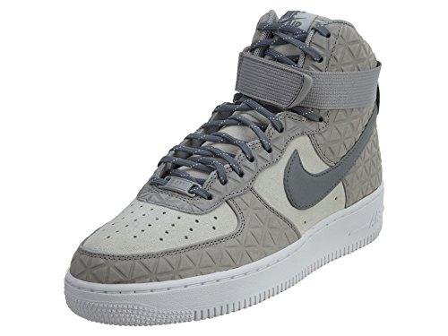Nike Air Force 1 Hi PRM, Women's Closed-Toe Matt Silver Cool Grey Platinum 001