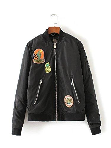 Lsm-Jacket Women's Regular Short Down Jacket Thickened Loose Cotton Coat Black