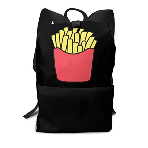 (Travel Backpack Business Daypack School Bag French Fries Print Large Compartment College Computer Bag Casual Rucksack For Women Men Hiking Camping Outdoor)