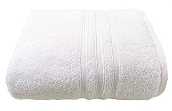 HOTEL hospedaje Calidad FRANJAS blancas Suave Zero Twist 100% Algodón 600gsm Toalla 90 x 140cm: Amazon.es: Jardín