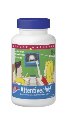 Source Naturals Attentive Child, Enhances Mental Concetration,60 Wafers