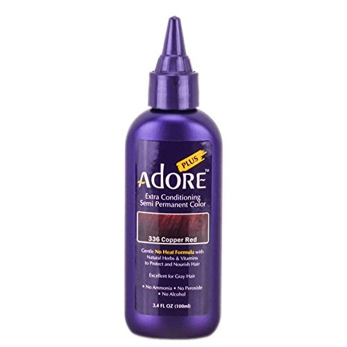 #336 Copper Red - Hair Dye Color by Adore Plus Semi Permanent Creative Image Systems Inc.