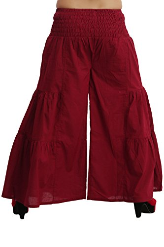 Jaipur Kala Kendra - Pantalón - para mujer rojo (Maroon)