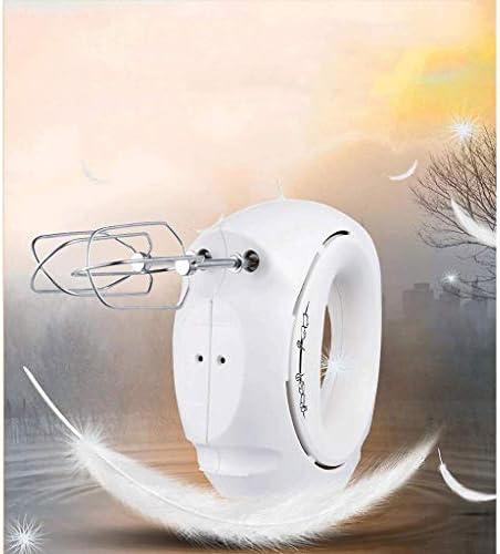 SCRFF Batteur à œufs électrique avec turbo, batteur à main 5 vitesses Blanc