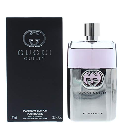 Gucci Guilty Platinum Edition Eau De Toilette Spray for Men, 3 Ounce