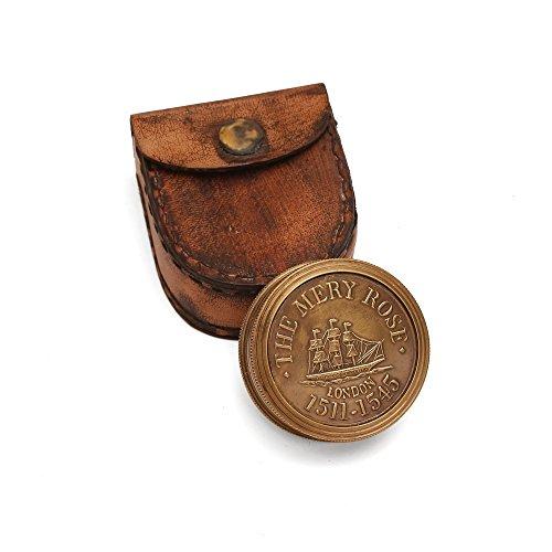 ShalinIndia Antique Brass Sundial Compass - Brass - 1.75