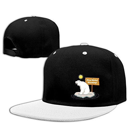Men Women Adjustable Snapback Sun Hats Hip-Hop Caps For Help Polor Bear Stop Global Warming!