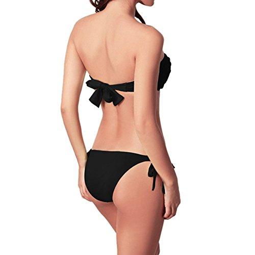 Elegante Estate Costume Bikini Beachwear Bagno Le Per Bandeaukini Da Benda Morbido Nere Imbottito Elastico Xinvision Swimming Swimwear Donne SFdw8HqxF