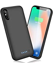 AOPAWA Battery Case for iPhone X/Xs/10, Upgraded [6500mAh] Charging Case Rechargeable Battery for iPhone X/Xs (5.8 inch) Backup Extended Battery Charger Case - Black