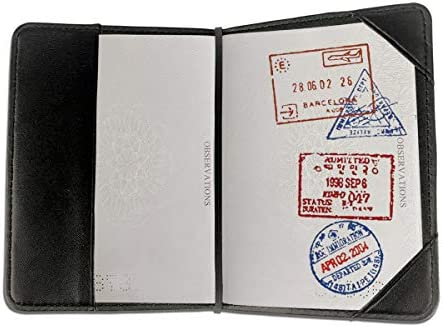 極真空手 漢字 パスポートケース メンズ 男女兼用 パスポートカバー パスポート用カバー パスポートバッグ 小型 携帯便利 シンプル ポーチ 5.5インチ高級PUレザー 家族 国内海外旅行用品