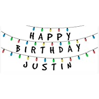 Christmas Lights Birthday Banner Party Decoration Backdrop