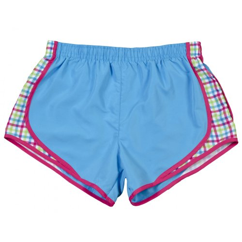 Boxercraft- Pantalones cortos transpirables para mujer Zafiro/ A cuadros