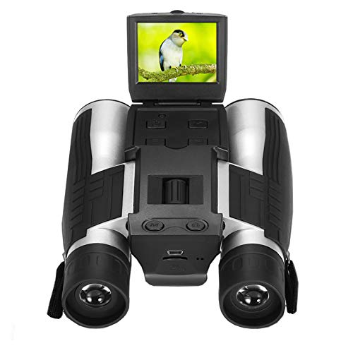 Camonity 5M 2″ LCD 16GB Digital Binocular with Camera 12X Zoom Video Photo Recorder Camcorder for Bird Watching Football Game Concert