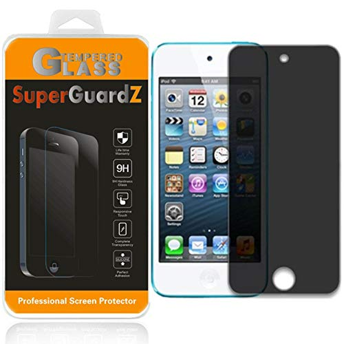 for iPod Touch 7 / iPod Touch 6 / iPod Touch 5 Tempered Glass Screen Protector [Privacy Anti-Spy], SuperGuardZ, 9H Anti-Scratch, Anti-Bubble [Lifetime Replacements] (Ipod 5 Privacy Screen Protector)